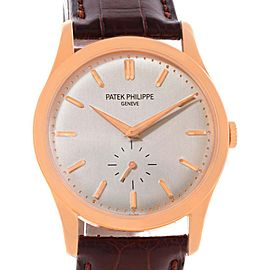Patek Philippe 5196R Calatrava 18k Rose Gold Mechanical Mens Watch
