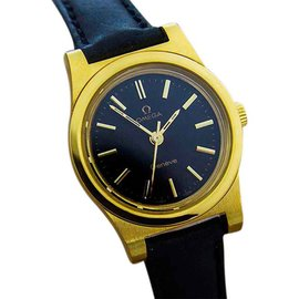 Omega Geneve Gold Plated Manual Wind Dress Womens Watch c1970