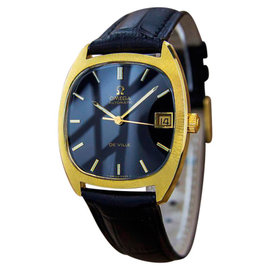 Omega DeVille Swiss Made Automatic Gold Plated Mens Vintage 1970s Watch