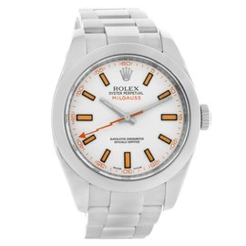 Rolex 116400WSO Milgauss White Dial Stainless Steel Mens Watch