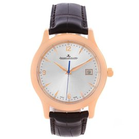 Jaeger Lecoultre Master Control Q147237S 18K Rose Gold Date Mens Watch