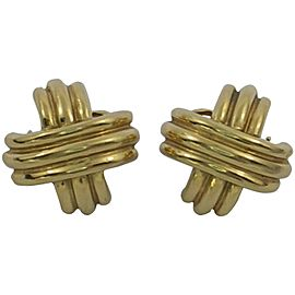Tiffany & Co. 18K Yellow Gold X Earrings