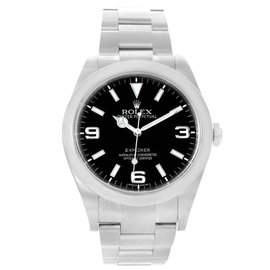 Rolex Explorer I 214270 Stainless Steel Black Dial Mens Watch