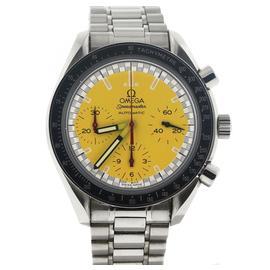 Omega Speedmaster Chronograph Michael Schumacher 351012 Yellow Dial Steel Watch