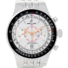 Breitling Montbrillant Legende A23340 Silver Dial Steel Mens Watch