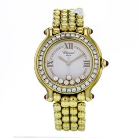 Chopard Happy Sport 18K Yellow Gold 27/6144-21/11 32mm Watch