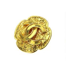 Chanel Gold Tone Metal Brooch