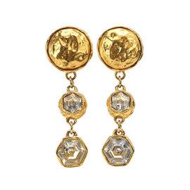 Chanel Gold Tone Metal Bijou Earrings