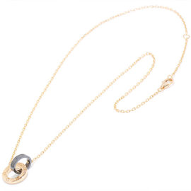Cartier Love 18K Rose Gold / Ceramic Diamond Necklace