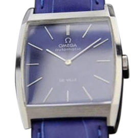 Omega Deville Automatic With Blue Dial Vintage Dress Mens Watch