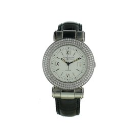 Van Cleef & Arpels Roma Stainless Steel Diamond Bezel Watch