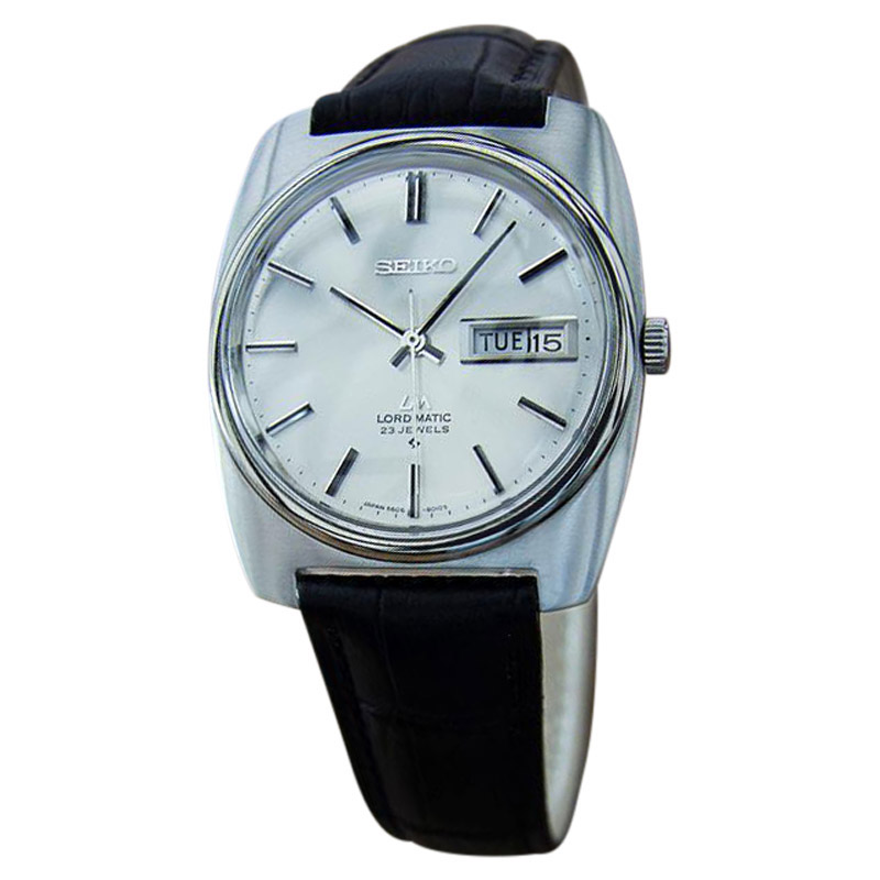 "Image of ""Seiko LM Stainless Steel & Leather 41mm Watch"""