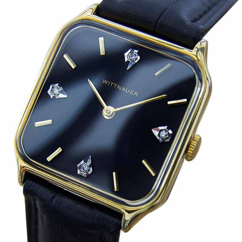 "Image of ""Wittnauer La100 Gold Plated Stainless Steel & Leather 34mm Watch"""