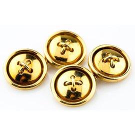 18k Yellow Gold Vintage Button-Style Cufflinks