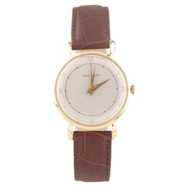 Jaeger LeCoultre 18K Yellow Gold Handwinding With Teardrop Lugs Vintage Mens Watch
