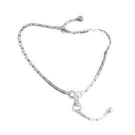 Cartier 18K White Gold and Diamond Pearl Agrafe Necklace