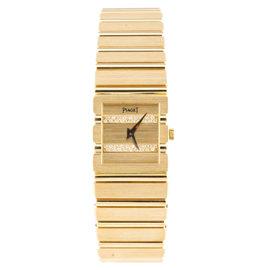 Piaget 18K Yellow Gold And Diamond 21mm Watch