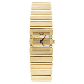 Piaget 18K Yellow Gold Quartz 19mm Womens Watch