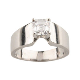Platinum 1.00ct Solitaire Diamond Engagement Ring Size 5.5