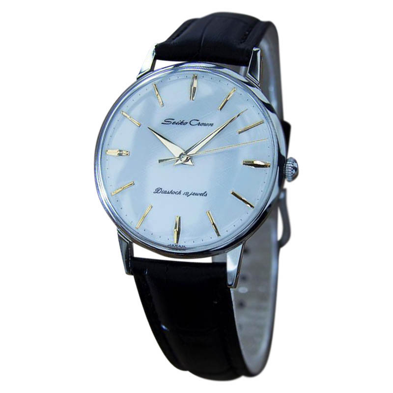"Image of ""Seiko Crown Stainless Steel Japanese Vintage Mens Watch Year: 1950"""