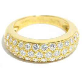 Cartier 18K Yellow Gold and Diamond Ring Size 4.75