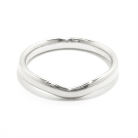 Tiffany & Co. Platinum Curved Band Ring Size 9.5