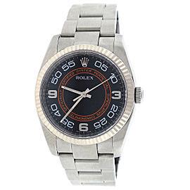 Rolex Oyster Perpetual 116034 bkorao Orange/Black Arabic Dial 36mm Watch
