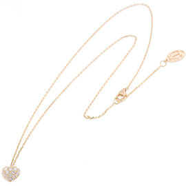 Cartier 18K Pink Gold and 0.36ct Diamond Heart Motif Necklace