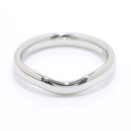 Tiffany & Co. Platinum Curved Band Ring Size 6.5