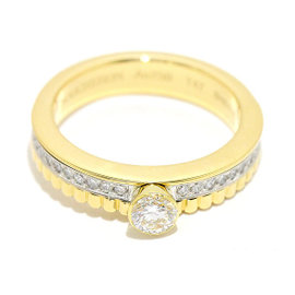 Boucheron 18K Yellow Gold Quatre Radiant 0.23ct Diamond Ring Size 4