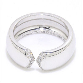 Cartier 18K White Gold and Diamond Ring Size 4.5
