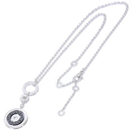 Bulgari 750 18K White Gold Astrale Cerchi Black Ceramic Necklace