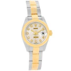 Rolex Datejust 179163 Steel 18K Yellow Gold Diamond Dial Watch