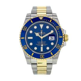 Rolex Submariner 116613 18k Yellow Gold and Stainless Steel Perpetual Date Blue Dial 40mm Watch