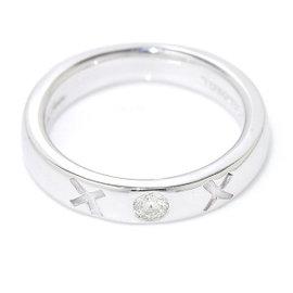 Tiffany & Co. Paloma Picasso Kiss 18K White Gold 750 Diamond Ring Size 4.5