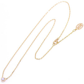 Cartier Diamants 18K Pink Gold 750 Heart Diamond Necklace