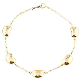 Tiffany & Co. Elsa Peretti 18K Yellow Gold Five Bean Bracelet