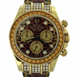 Rolex Daytona Special Leopard Edition 18k Yellow Gold 40mm Watch