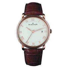 Blancpain Villeret Ultra Slim 18K Rose Gold & Leather 40mm Mens Watch