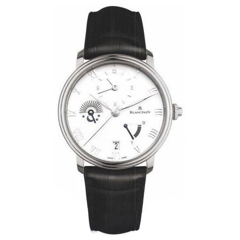 "Image of ""Blancpain Villeret GMT Power Reserve Stainless Steel & Leather 40mm"""