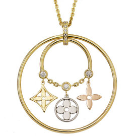 Louis Vuitton 18K Yellow, Pink, White Gold with Diamond Necklace