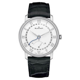 Blancpain Villeret 6653Q-1127-55B Stainless Steel & Leather Retrograde Seconds with Date 40mm Mens Watch