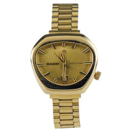 Rado NCC 444 558.3018.2 Gold Plated Stainless Steel 30mm x 28mm Watch