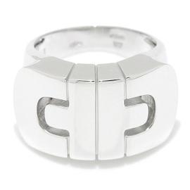 Bulgari Parentesi 18K White Gold Ring Size 5.0