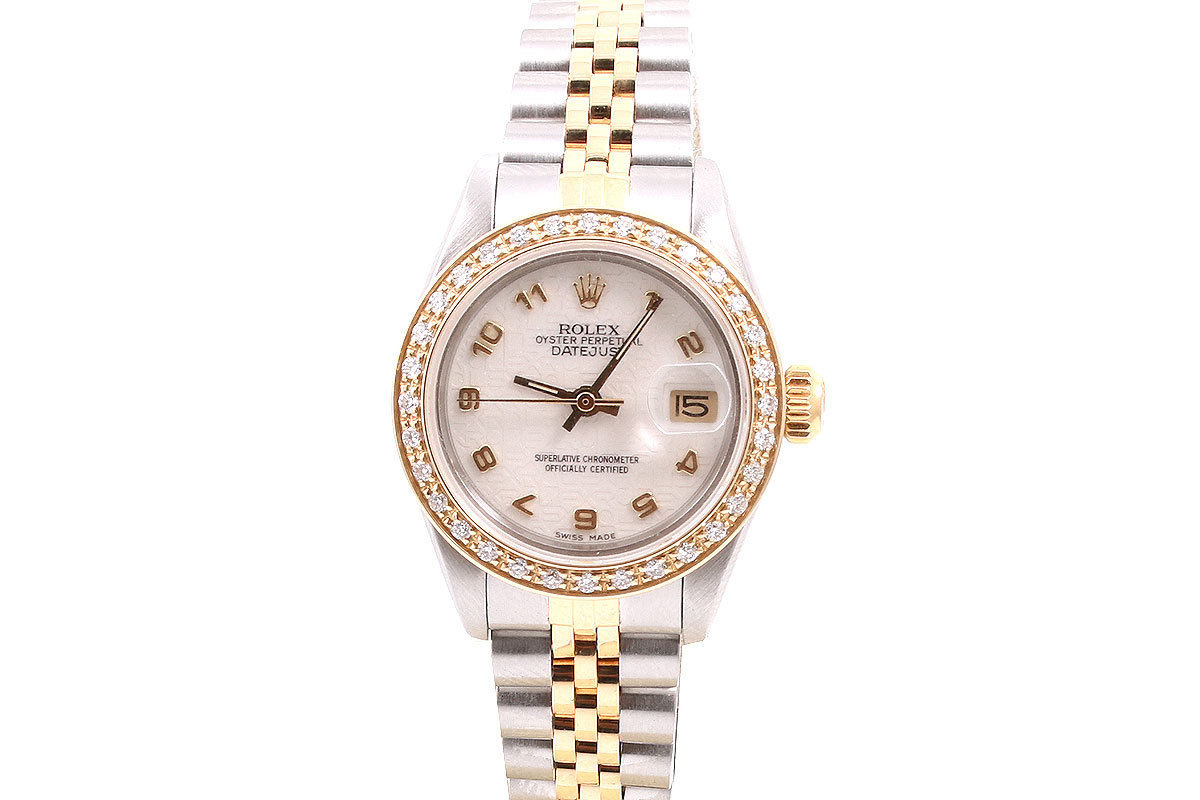 """Image of """"Rolex Datejust 18K Yellow Gold And Stainless Steel Cream Jubilee"""""""