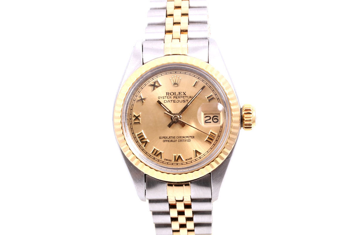 """Image of """"Rolex Datejust 18K Yellow Gold And Stainless Steel Champagne Roman"""""""