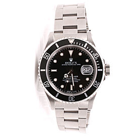 Rolex Submariner 16610 Stainless Steel Black Dial Oyster Band 40mm Mens Watch 1990
