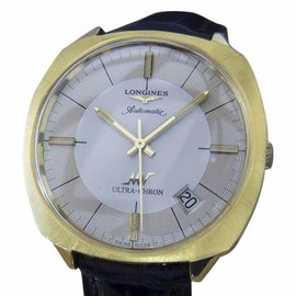 Longines Ultra Chron Gold Plated Stainless Steel & Leather Automatic 38mm Mens Watch 1970