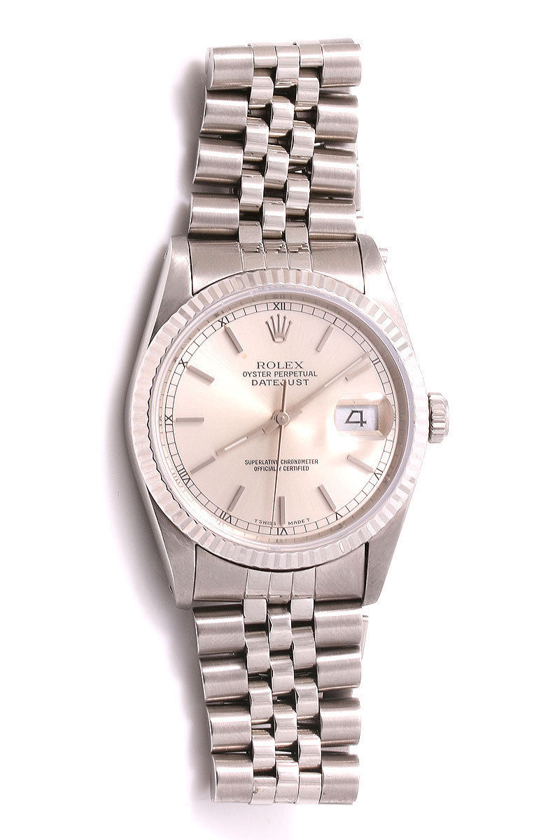 """Image of """"Rolex Datejust 16234 Silver Dial Stainless Steel Jubilee Band 36mm"""""""