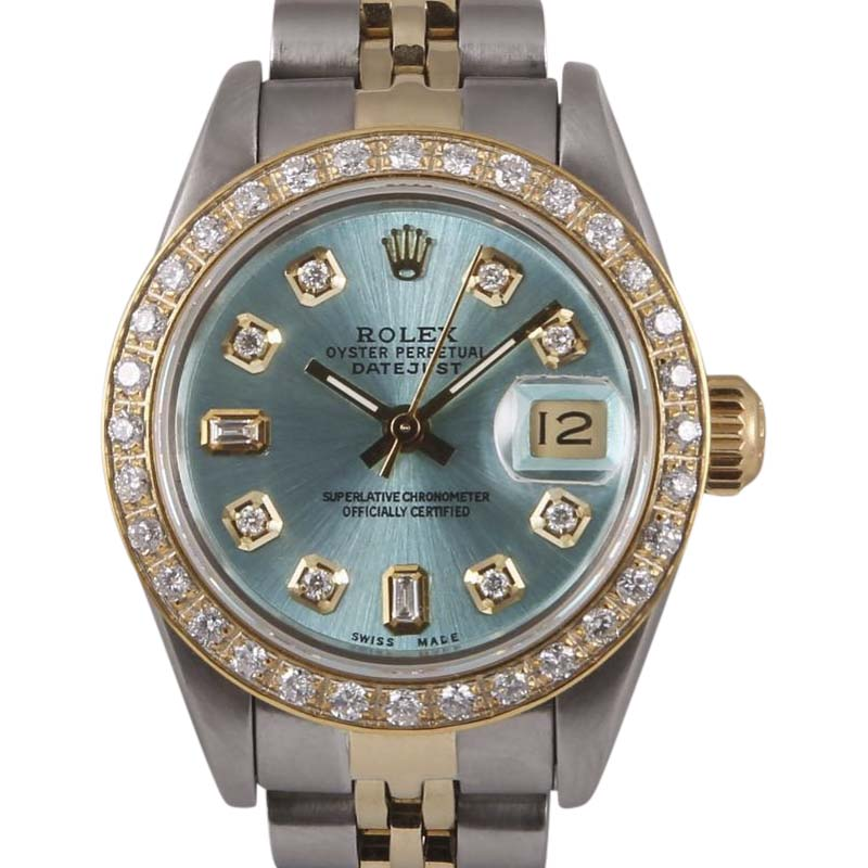 "Image of ""Rolex Datejust Stainless Steel & 18K Yellow Gold Ice Blue Dial"""